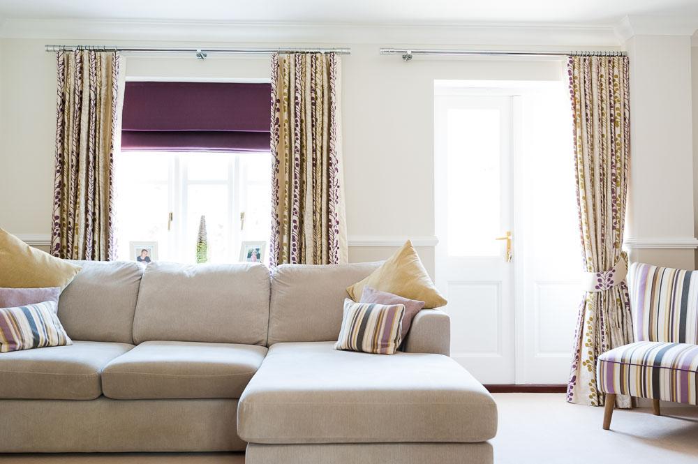 Stunning purple living set